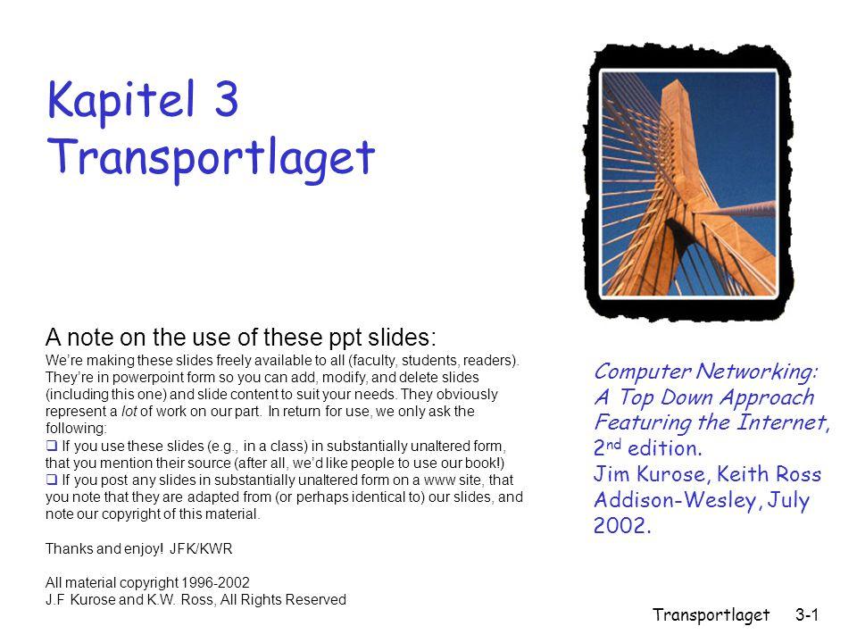 Kapitel 3 Transportlaget