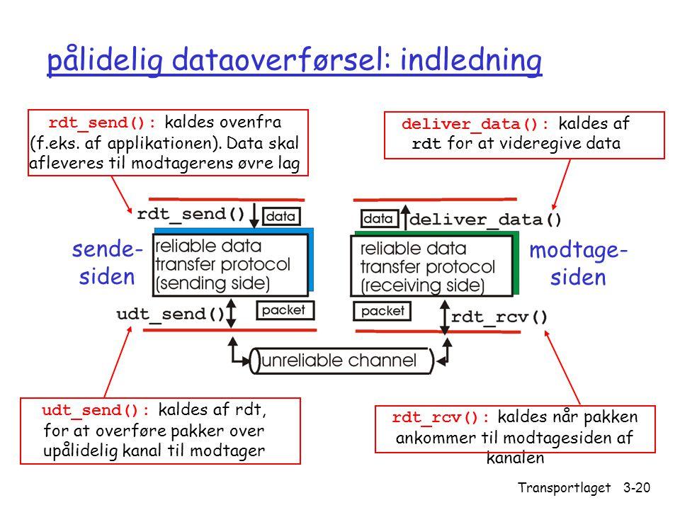 pålidelig dataoverførsel: indledning
