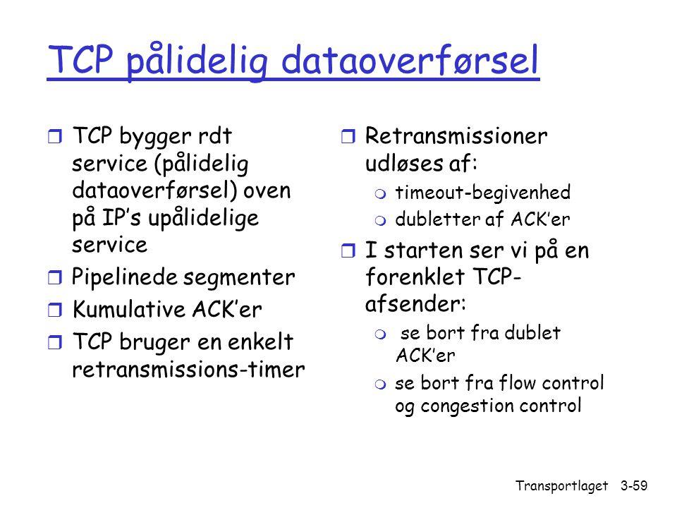 TCP pålidelig dataoverførsel