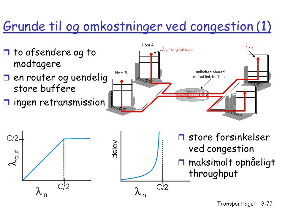 Grunde til og omkostninger ved congestion (1)