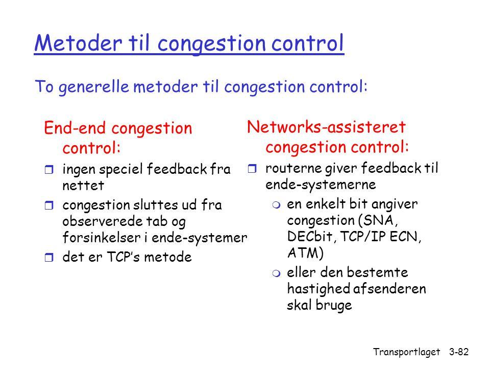 Metoder til congestion control