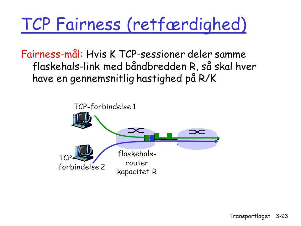 TCP Fairness (retfærdighed)