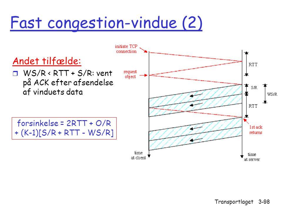 Fast congestion-vindue (2)