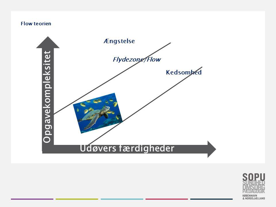 Flow teorien Ængstelse Flydezone/Flow Kedsomhed