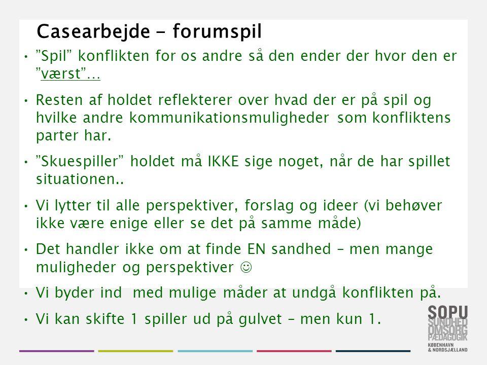 Casearbejde - forumspil