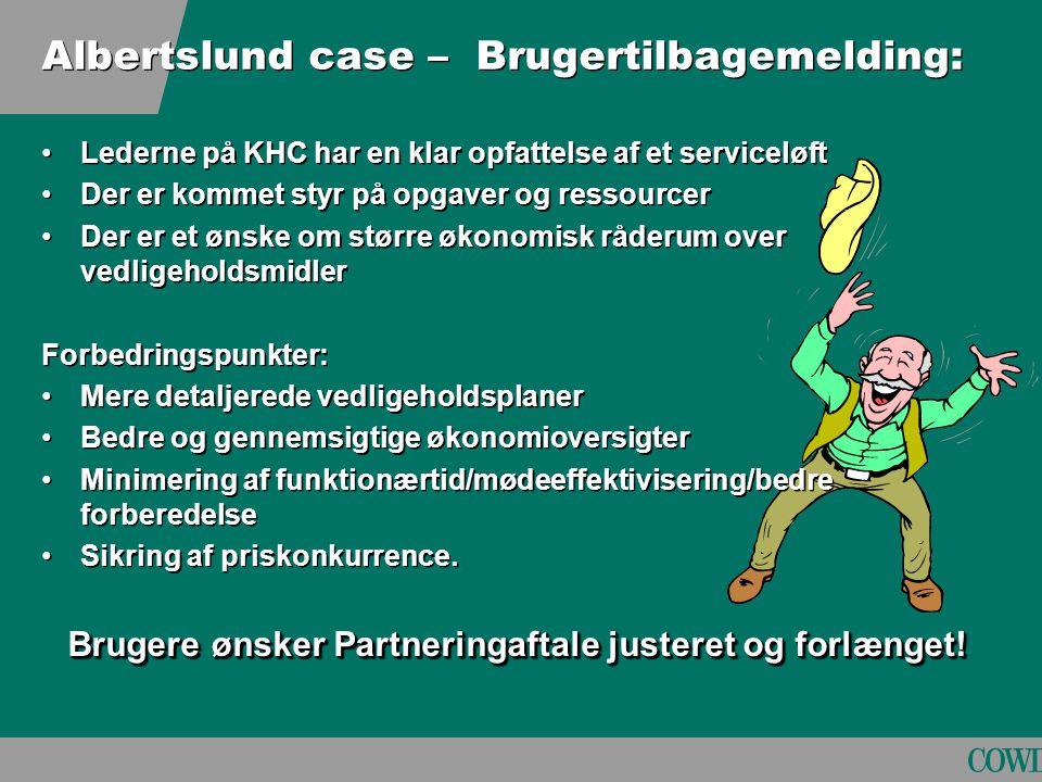 Albertslund case – Brugertilbagemelding: