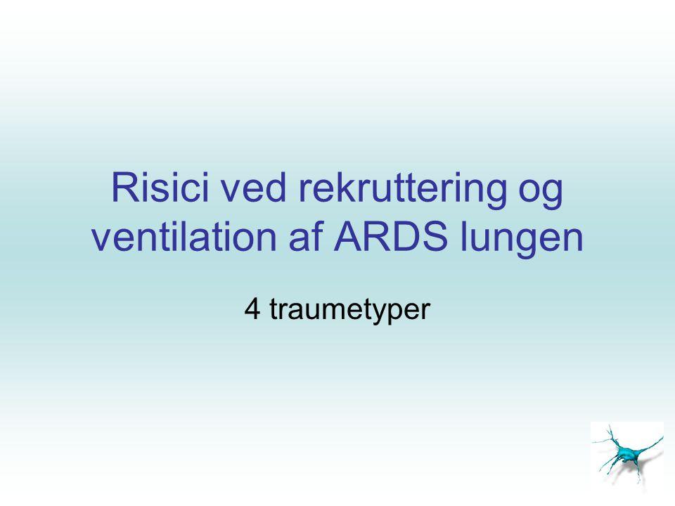 Risici ved rekruttering og ventilation af ARDS lungen
