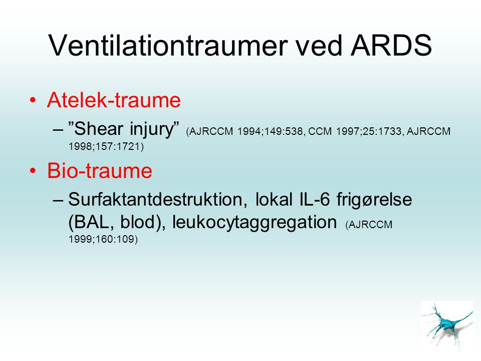 Ventilationtraumer ved ARDS