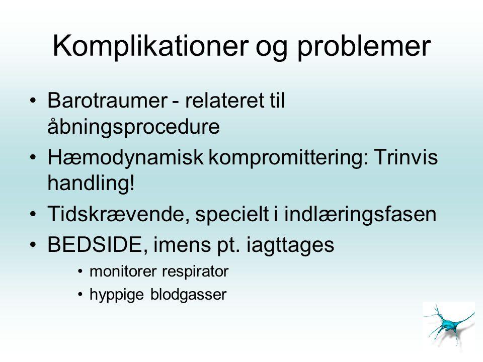 Komplikationer og problemer
