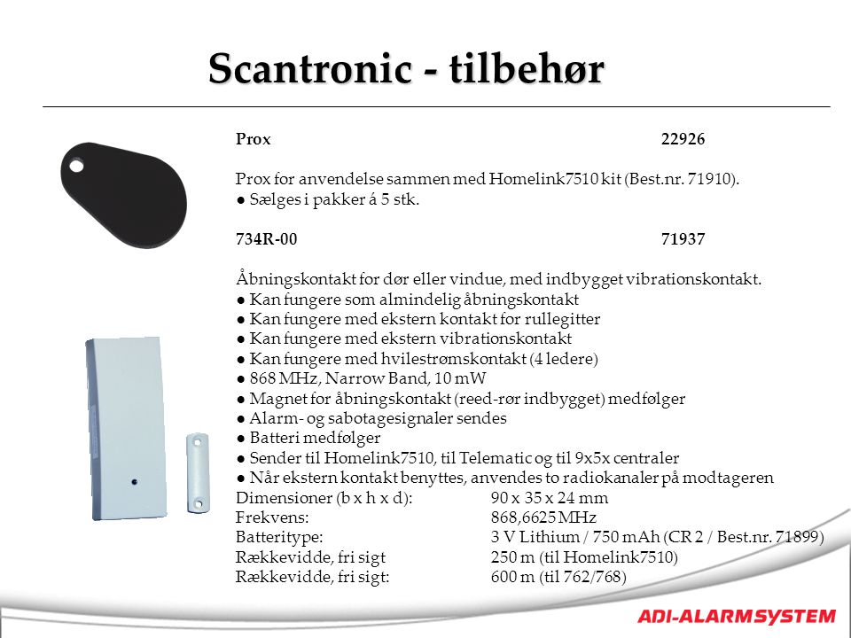 Scantronic - tilbehør Prox 22926