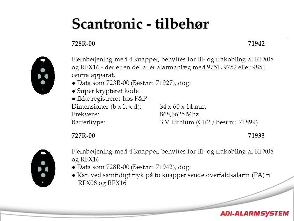 Scantronic - tilbehør 728R-00 71942