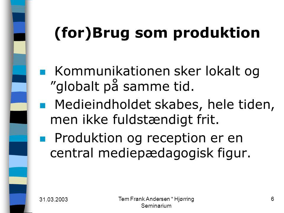 (for)Brug som produktion