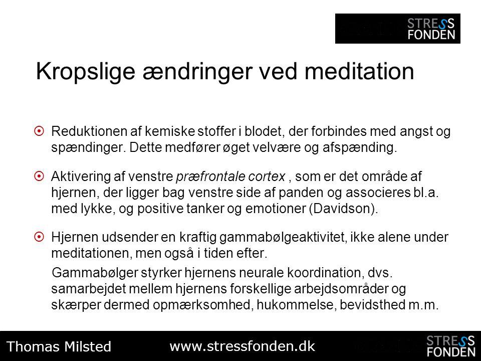 Kropslige ændringer ved meditation