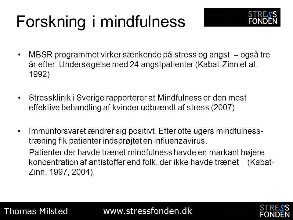 Forskning i mindfulness