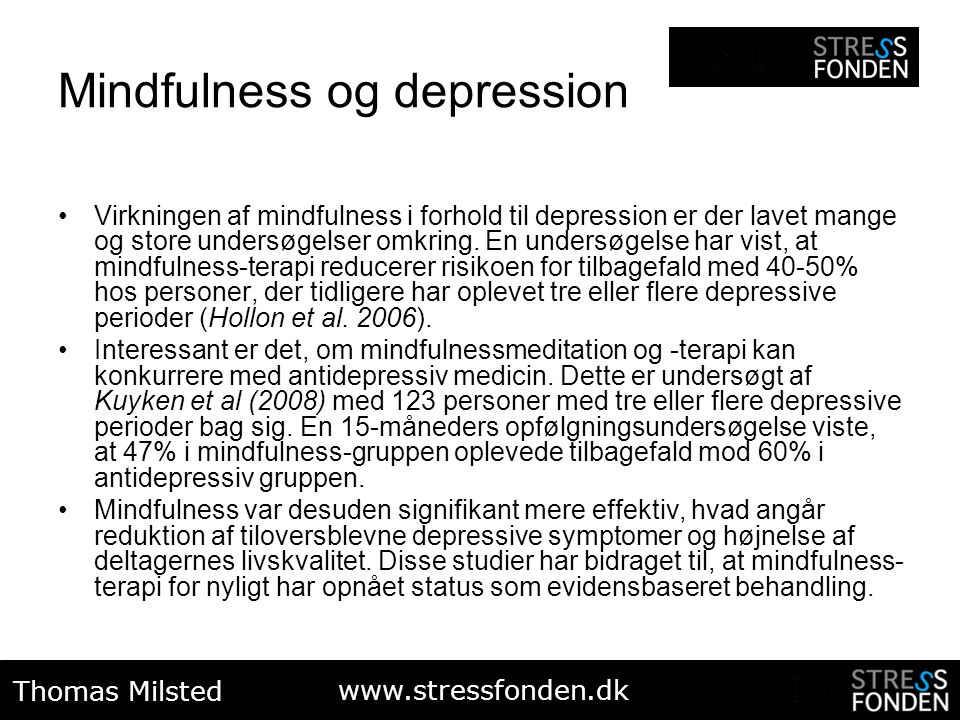 Mindfulness og depression