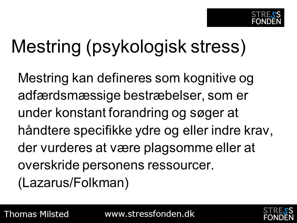 Mestring (psykologisk stress)