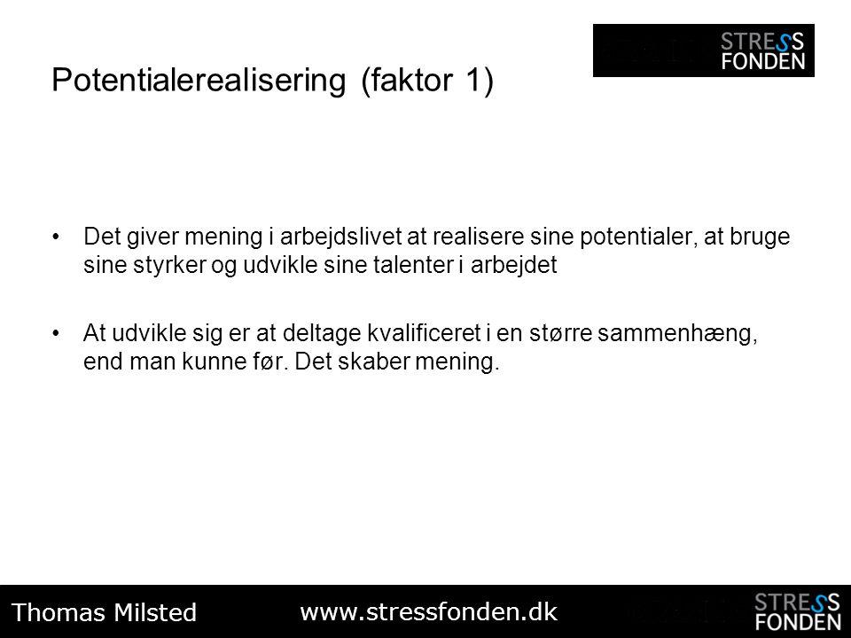 Potentialerealisering (faktor 1)