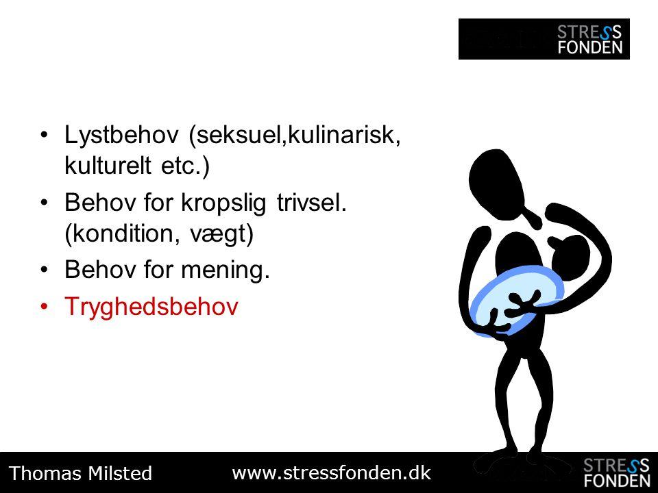 Lystbehov (seksuel,kulinarisk, kulturelt etc.)