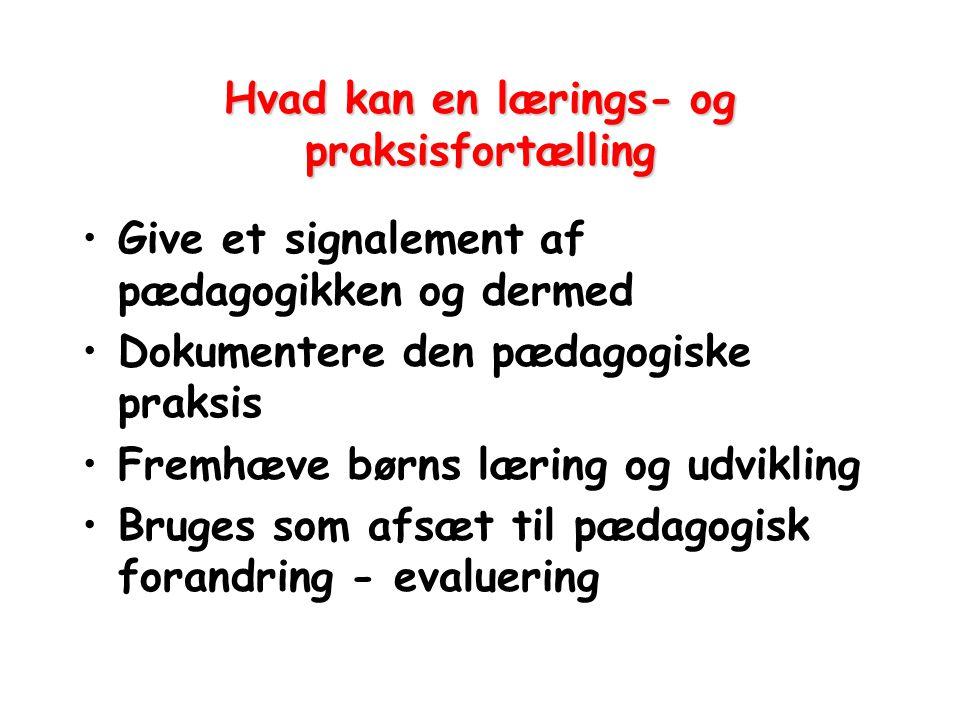 Hvad kan en lærings- og praksisfortælling