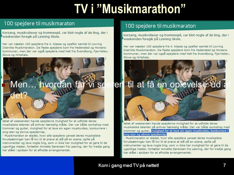 Kom i gang med TV på nettet!