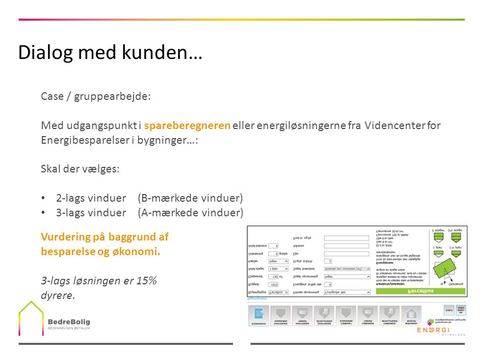 Dialog med kunden… Case / gruppearbejde: