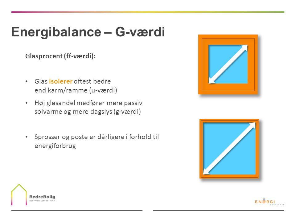 Energibalance – G-værdi