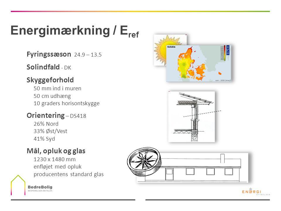Energimærkning / Eref Fyringssæson 24.9 – 13.5 Solindfald - DK