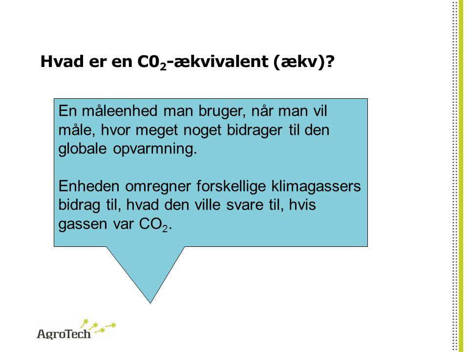 Hvad er en C02-ækvivalent (ækv)