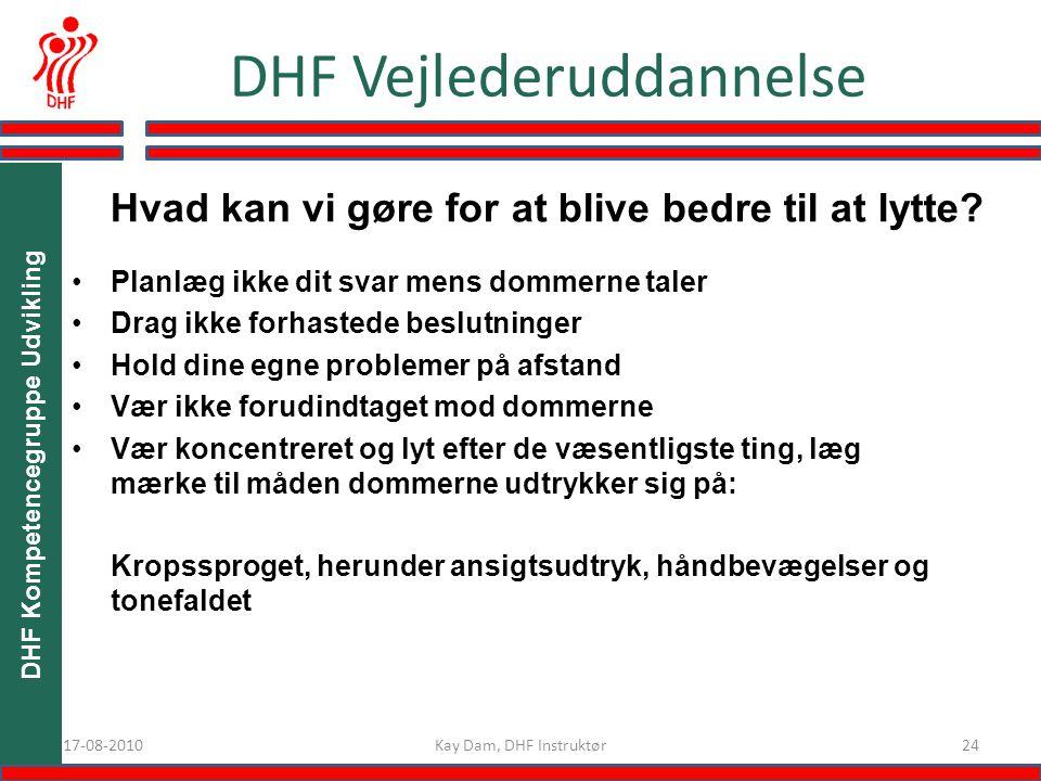 DHF Vejlederuddannelse