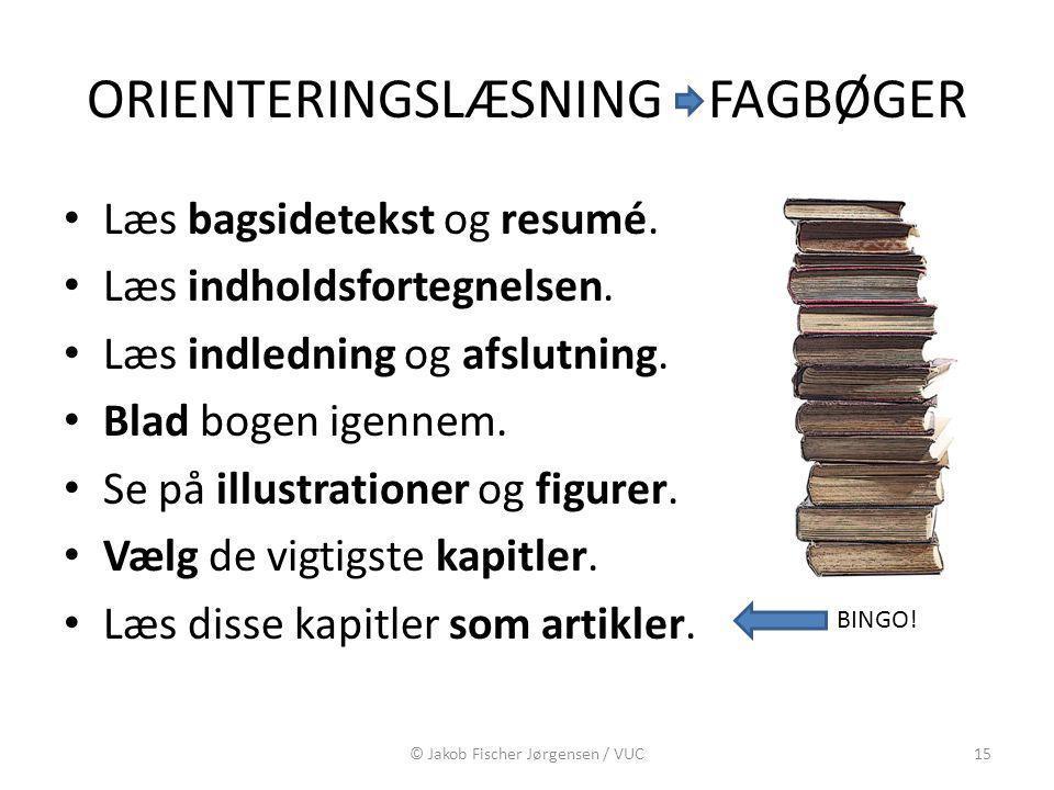ORIENTERINGSLÆSNING FAGBØGER