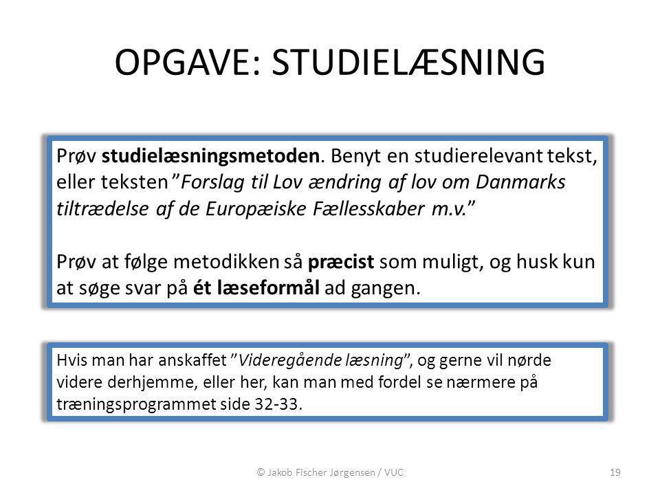 OPGAVE: STUDIELÆSNING
