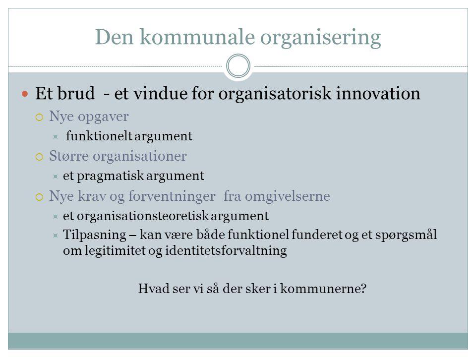 Den kommunale organisering