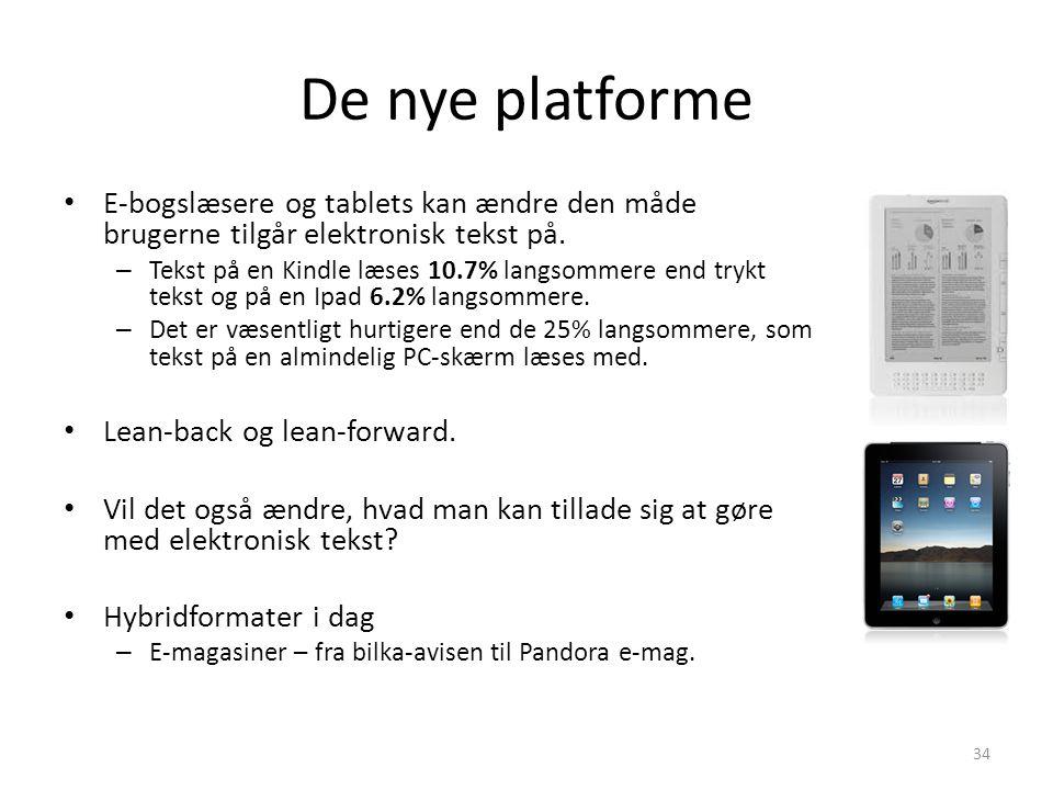 De nye platforme E-bogslæsere og tablets kan ændre den måde brugerne tilgår elektronisk tekst på.