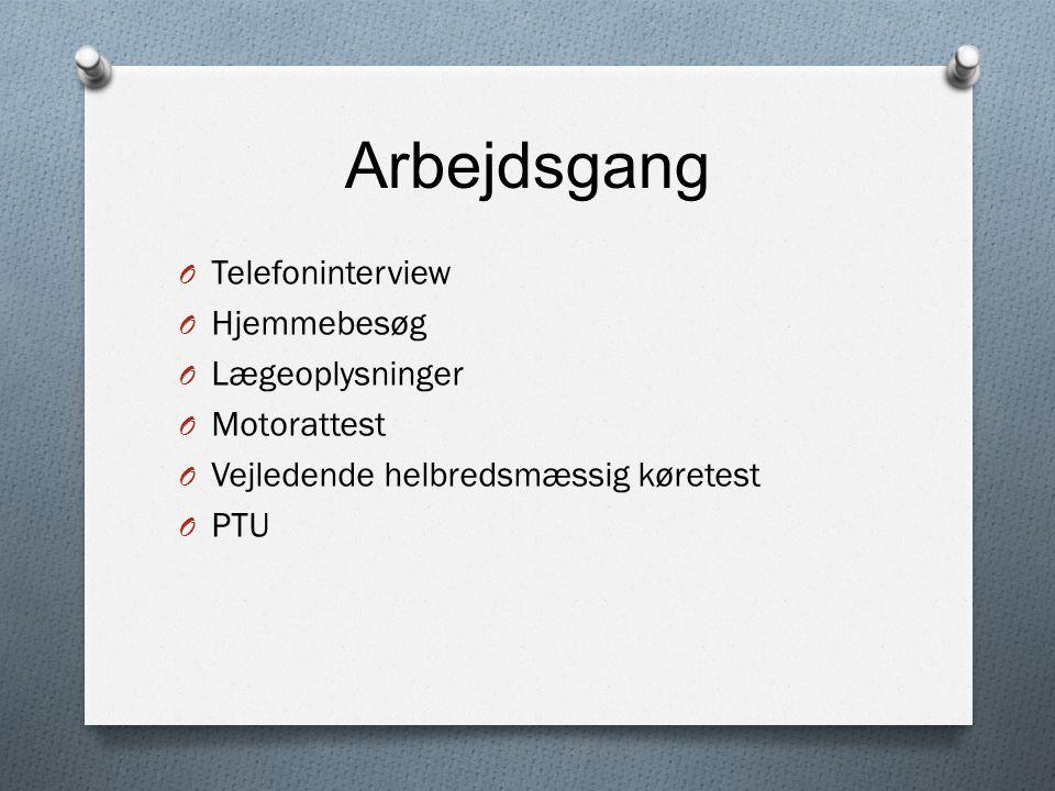 Arbejdsgang Telefoninterview Hjemmebesøg Lægeoplysninger Motorattest