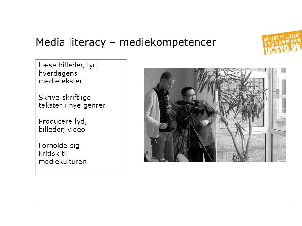 Media literacy – mediekompetencer