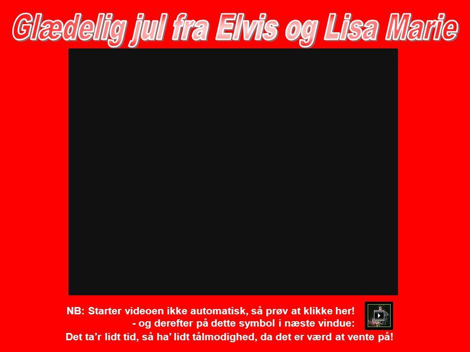 Glædelig jul fra Elvis og Lisa Marie