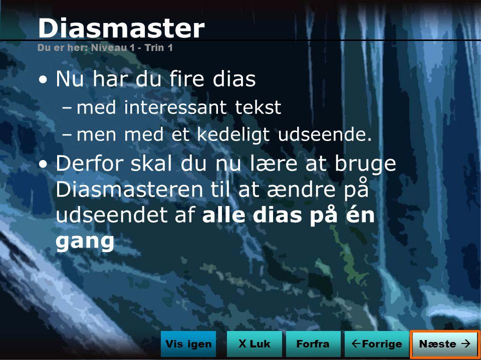 Diasmaster Nu har du fire dias