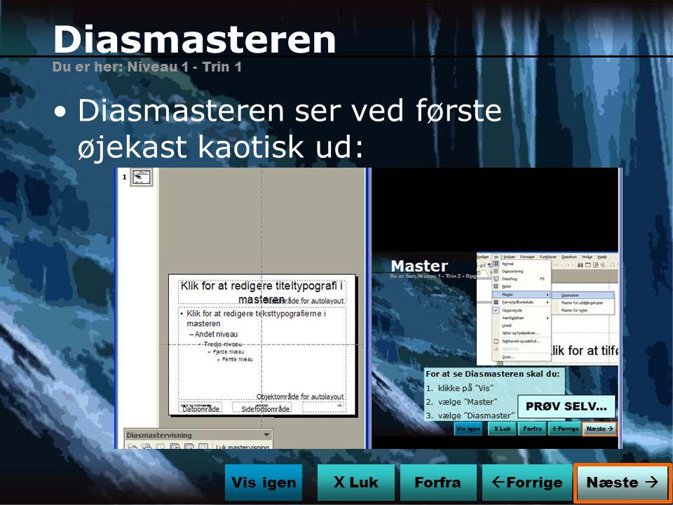 Diasmasteren Diasmasteren ser ved første øjekast kaotisk ud: