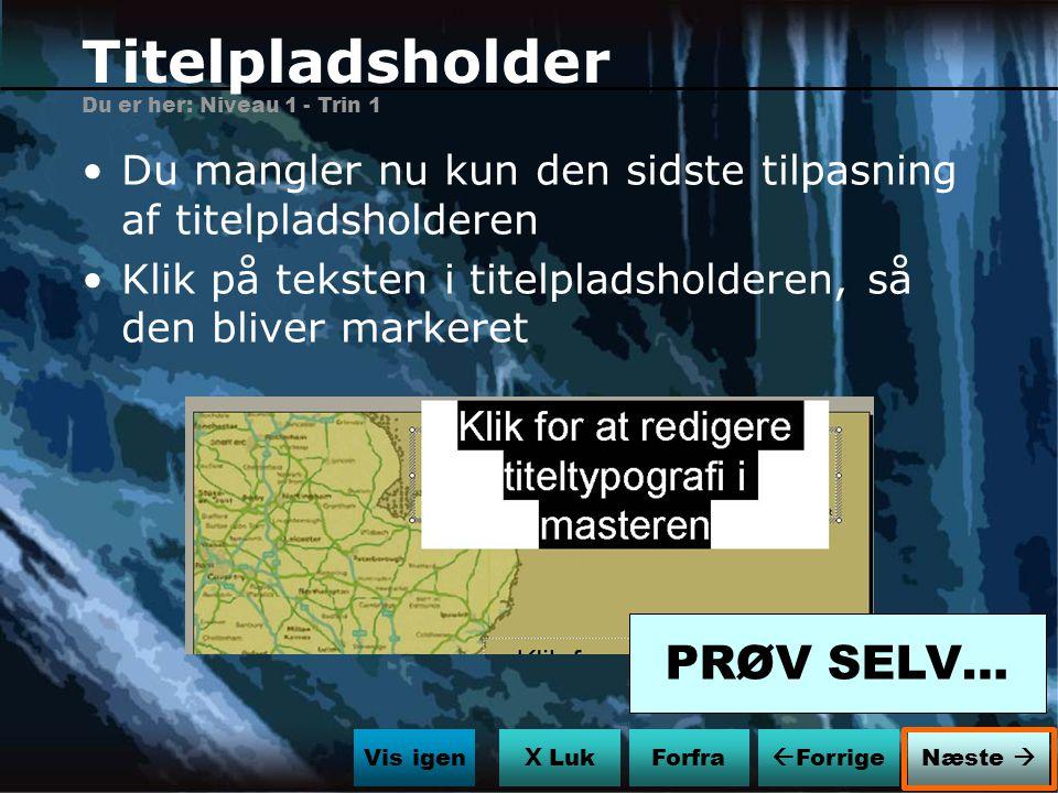 Titelpladsholder PRØV SELV…