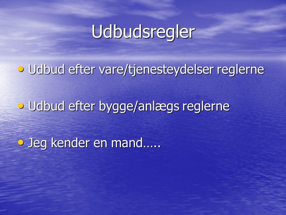 Udbudsregler Udbud efter vare/tjenesteydelser reglerne