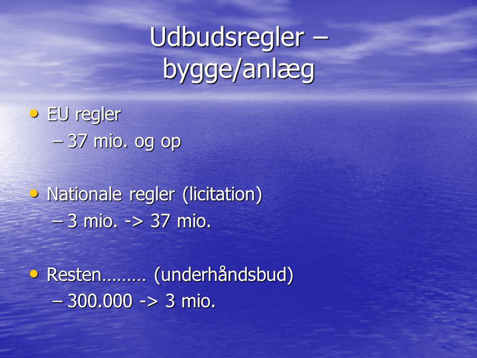 Udbudsregler – bygge/anlæg