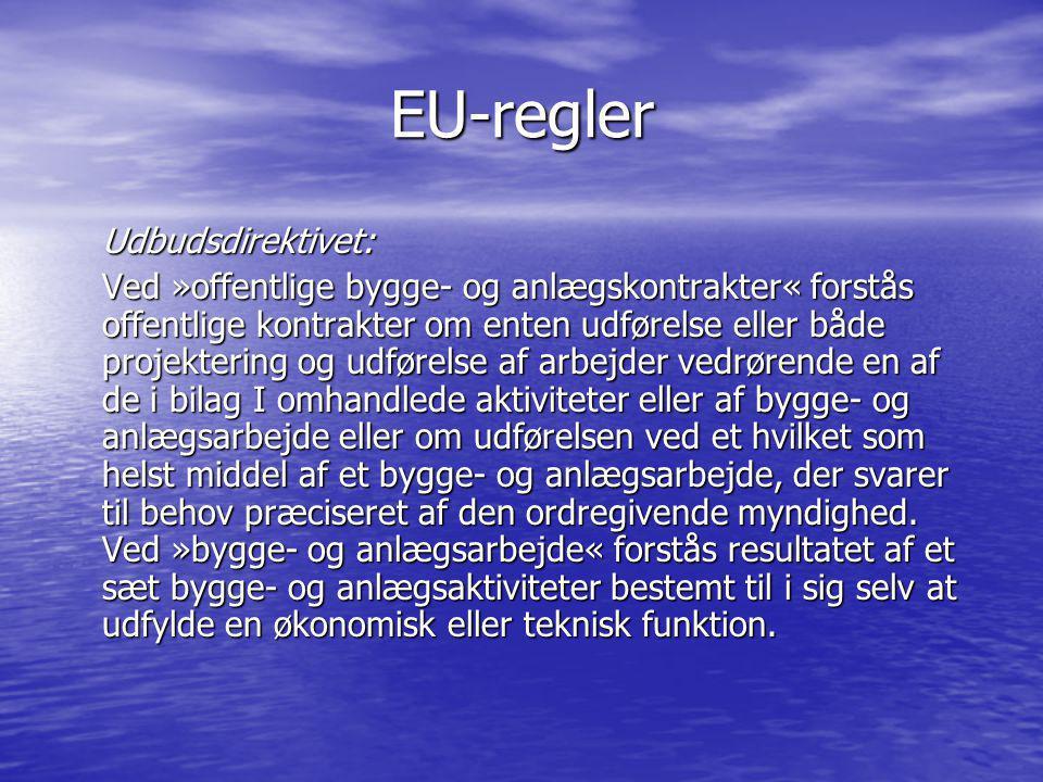 EU-regler Udbudsdirektivet: