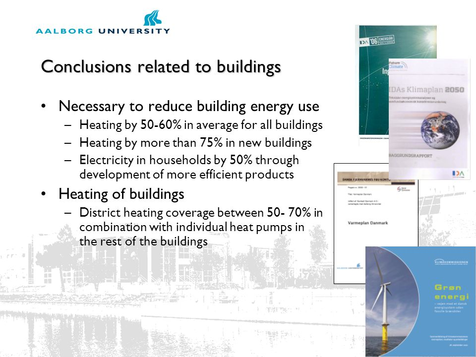 Conclusions related to buildings