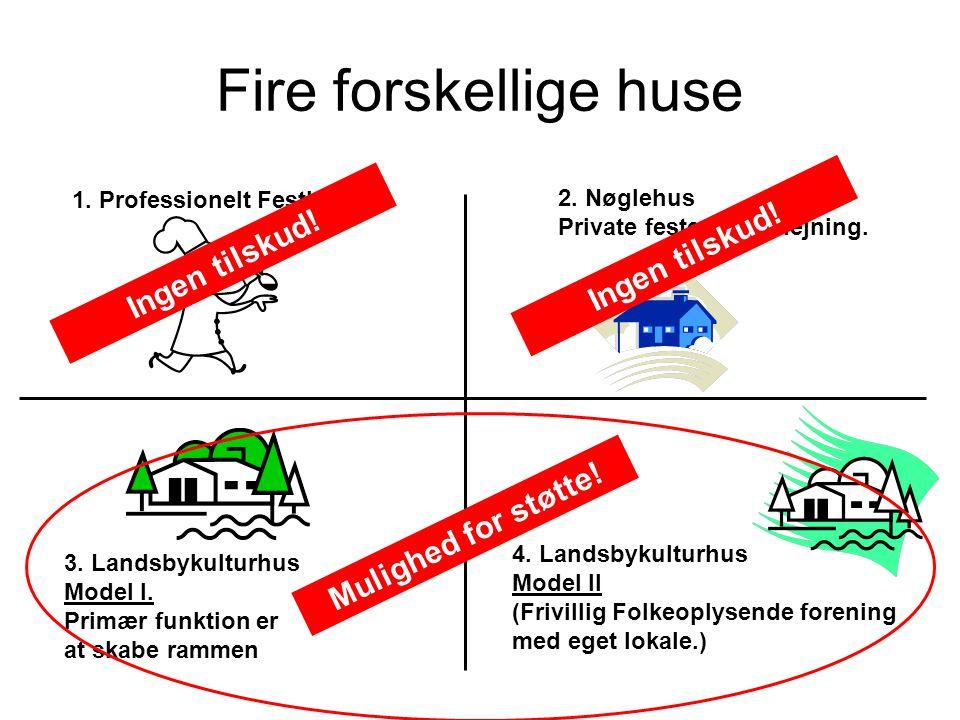 Fire forskellige huse Ingen tilskud! Ingen tilskud!