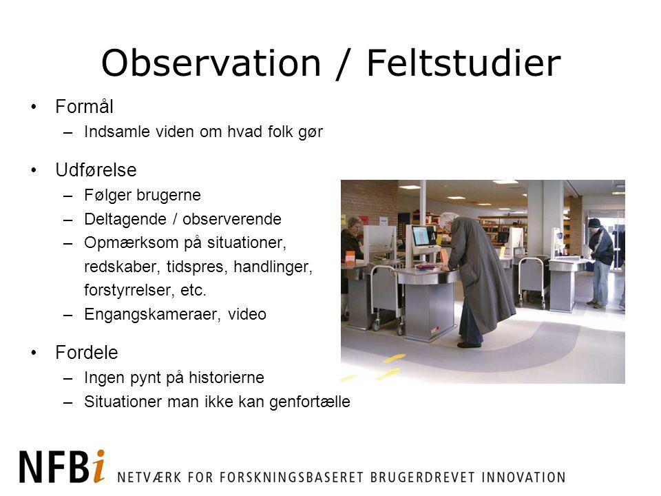 Observation / Feltstudier