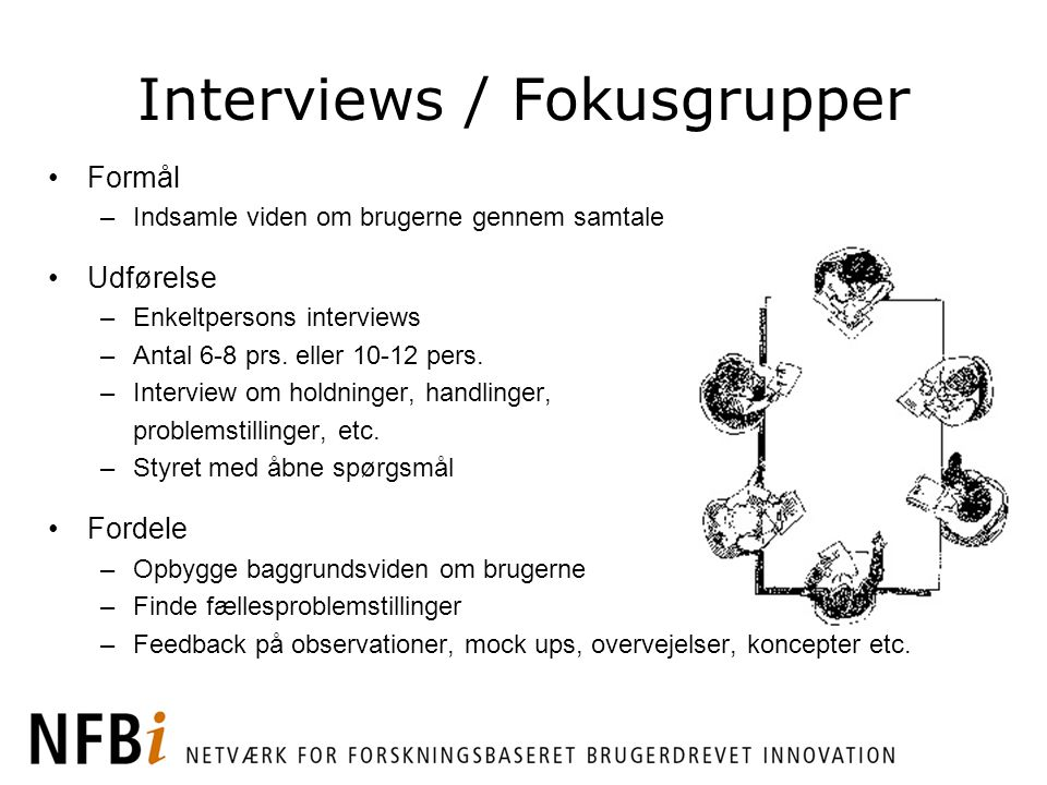 Interviews / Fokusgrupper