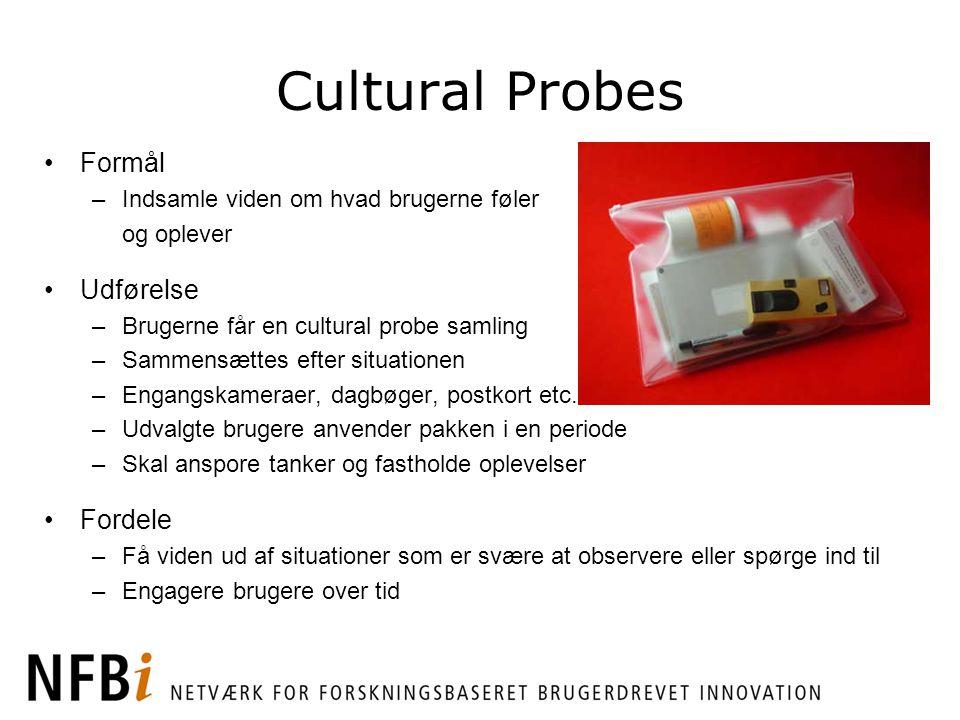 Cultural Probes Formål Udførelse Fordele
