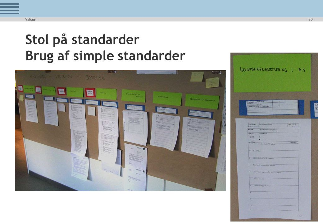 Stol på standarder Brug af simple standarder