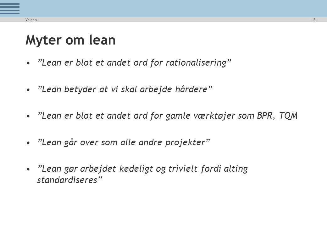 Myter om lean Lean er blot et andet ord for rationalisering