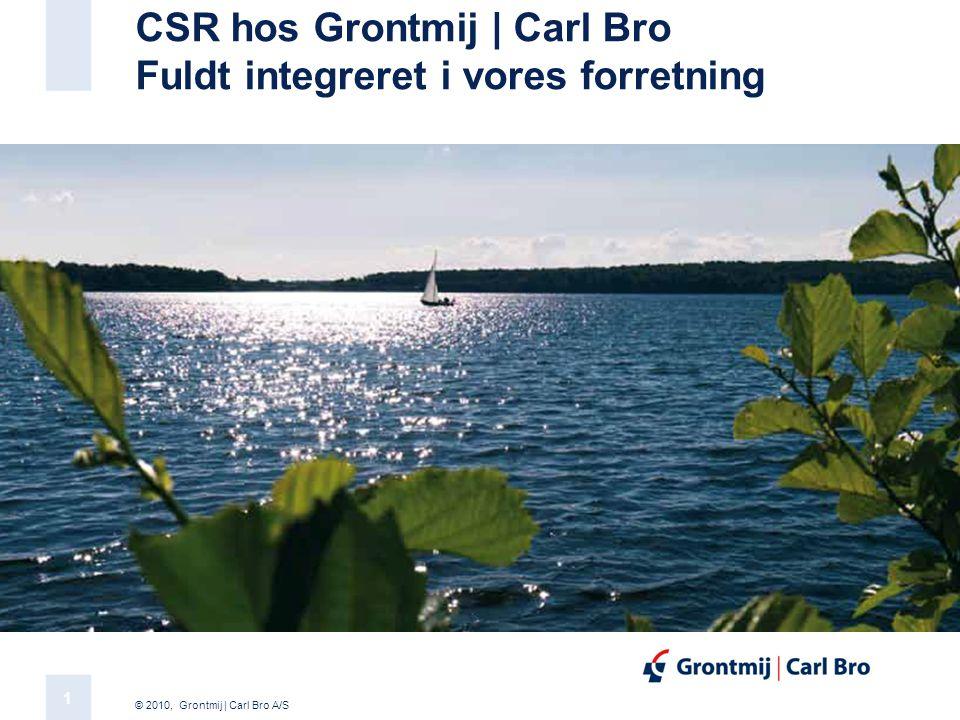CSR hos Grontmij | Carl Bro Fuldt integreret i vores forretning